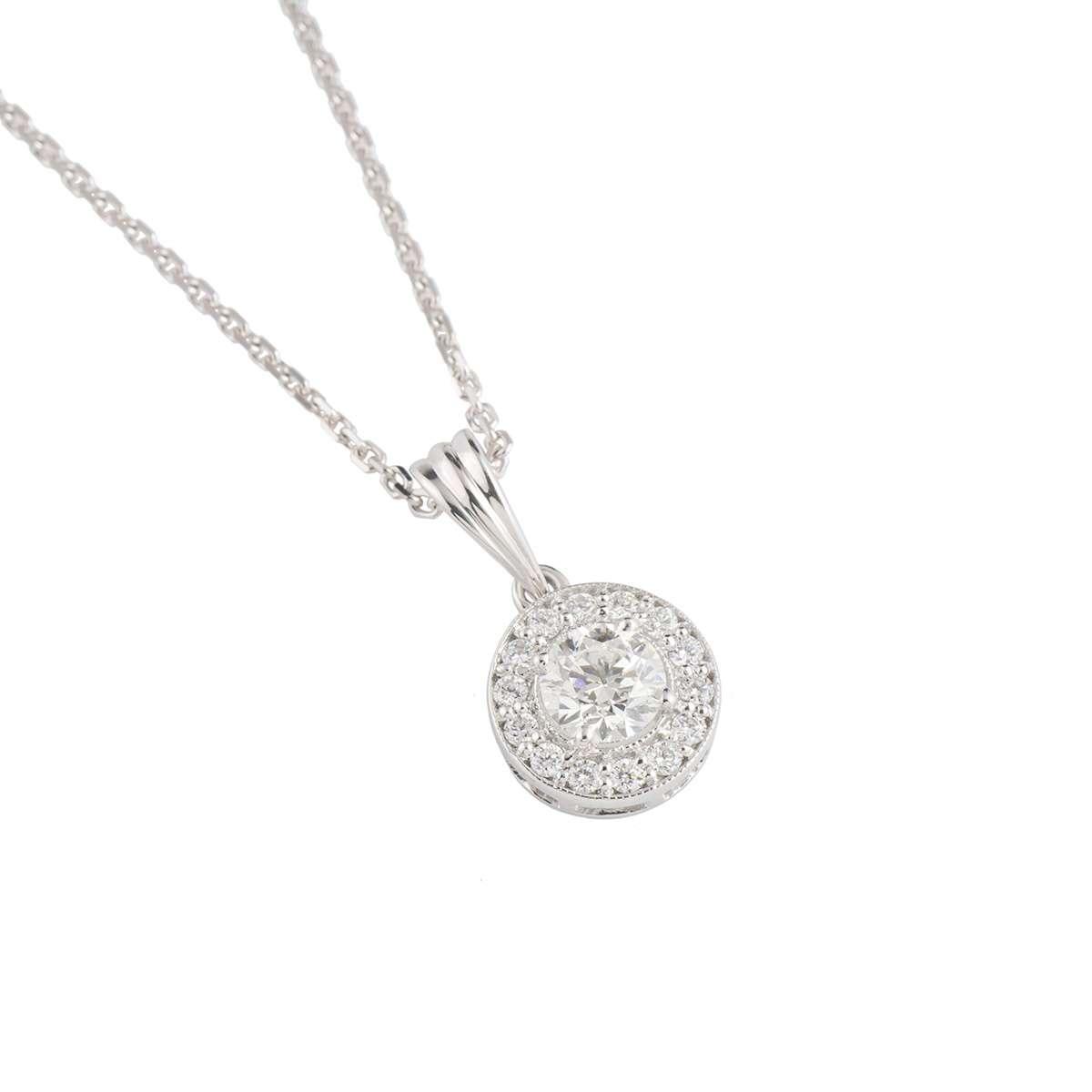 White Gold Diamond Pendant 0.56ct G-H/VS